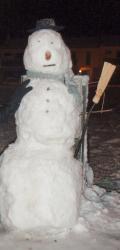 Schneemann bei Barcelona